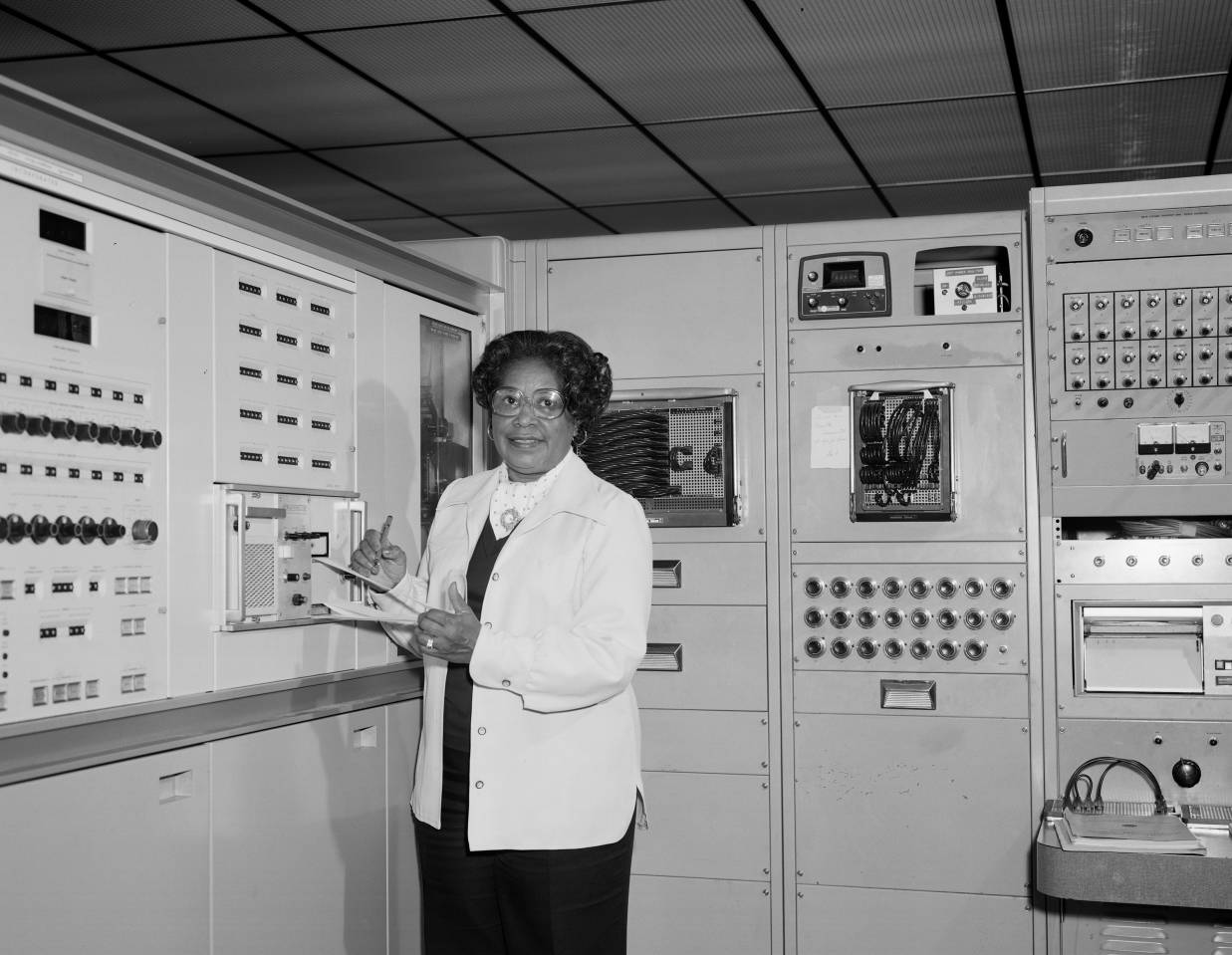 Mary Jackson at Work NASA Langley