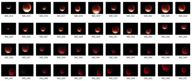 Super Blood Moon 2015 - multiple attempts!