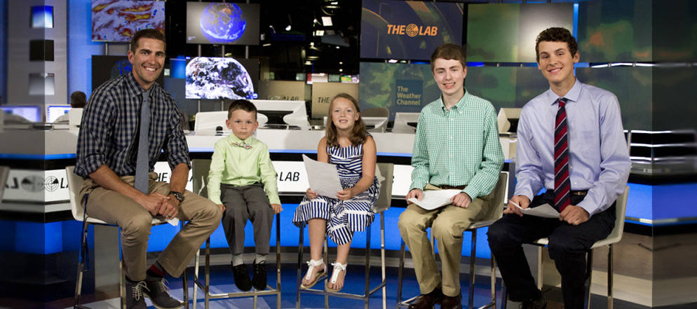 Mini Meteorologists Visit The Weather Channel Studios